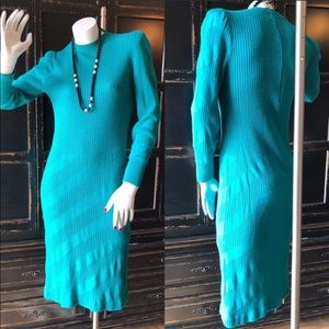 1970s Sweater Dress MOD MAD MEN